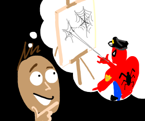 Guy thinks about Art-Loving Spider Cop(?)