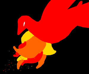 Red Flame Bird