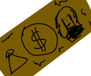 dollar bill, but brown not green
