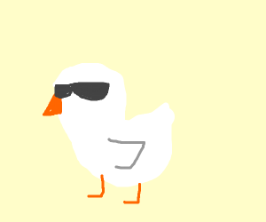 white birbs with glasses