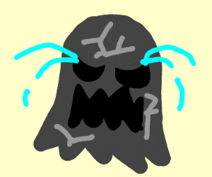 petrified ghost screams and cries