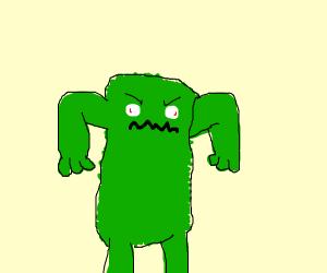 fuzzy green monster