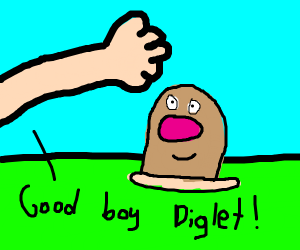 Catching a Diglet without a nose