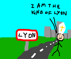 The lyon king, except the popes hat is comin