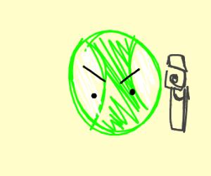 tennis ball got a gun