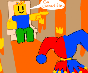 King want jester to commit die