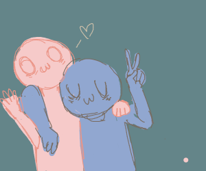 owo and uwu pose for a picture