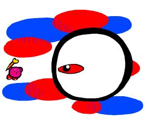 Kirby vs Zero (the boss)