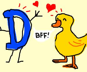 Drawception D is bestfriends with a duck