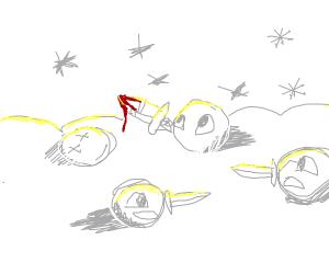 Snowball in battle