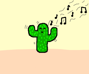 Dancing and singing catus