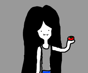 Marceline with a tomato in her hand