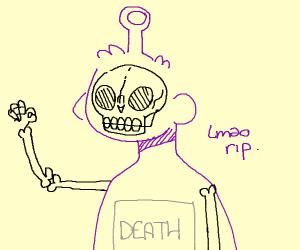 Purple skeleton teletubby