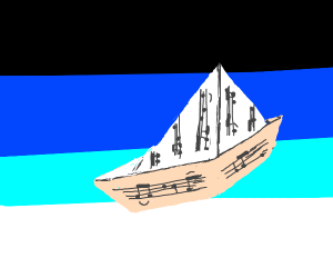 ship with music notes