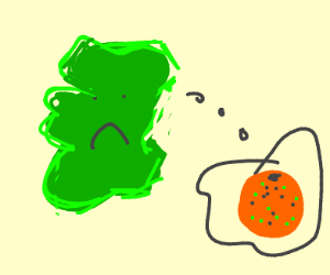 Ireland lost its orange and its friends