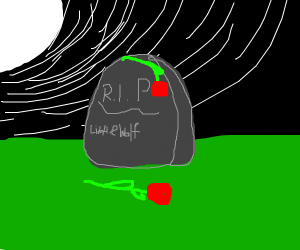 rose on a grave :(