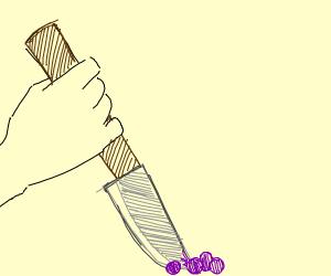 stabbing grapes