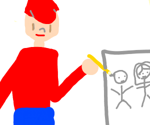 3 years-old kid draws some stuff