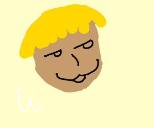 A blonde guy