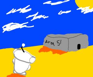 Reddit mascot visits area 51