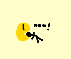 Pac-Man noms human