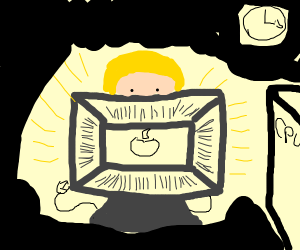 woman on computer at 3am