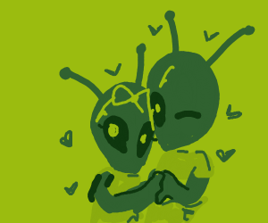 ant/alien couple
