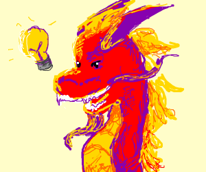 Chinese dragon gets an idea