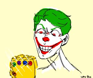 joker has the infinity gauntlet