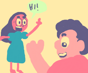 Connie says hi to Steven