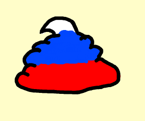 Red, white, and blue turd