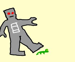 robot crushes lizard rip