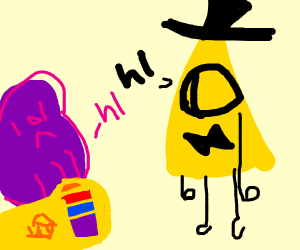 Thanos Talks With Bill Cipher