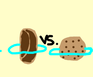 cookie vs.burrito they have rings w blue prls