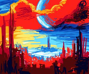 Futuristic City (Cool S in the Clouds)