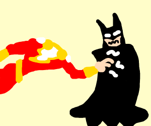 Shazam tickling Batman