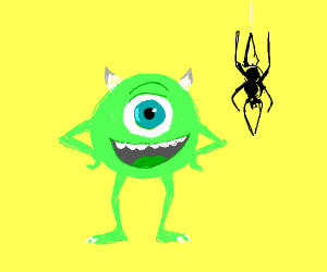 mike wisowski and a spider