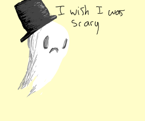 Cute ghost wishes he was scary