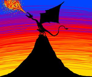 dragon on a mountain top