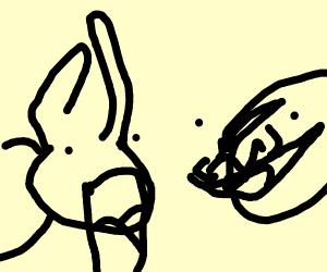 bunny having nightmare of robo boy