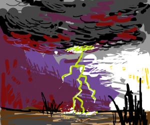 Green lightning