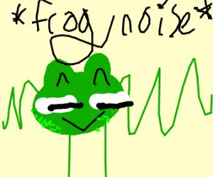 frog making a frog noise