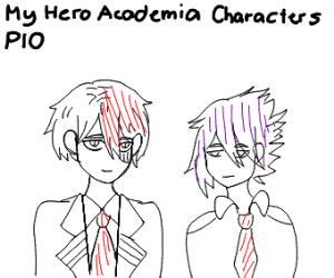 My hero academia characters (P.I.O.)