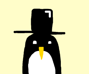 Penguin In A Top-Hat