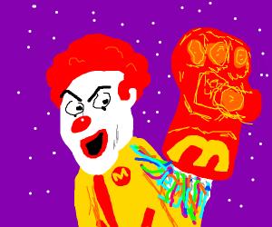 McDonald's themed infinity gauntlet