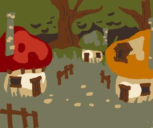 Mushroom Forest. (Smurf Village?)