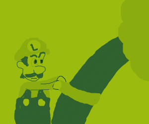 Luigi tries to kill Tree with scarf