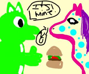 furries fighting over burgers