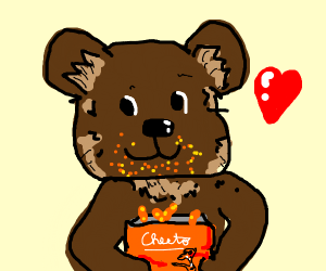 Bear loves Cheetos