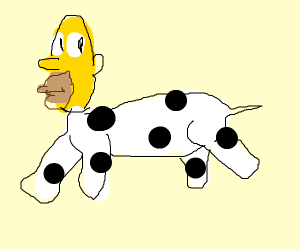 Homer Simpson but a cow